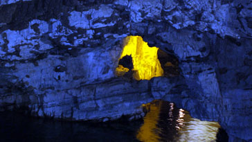 There is a boat trip to see the hidden parts of the caves